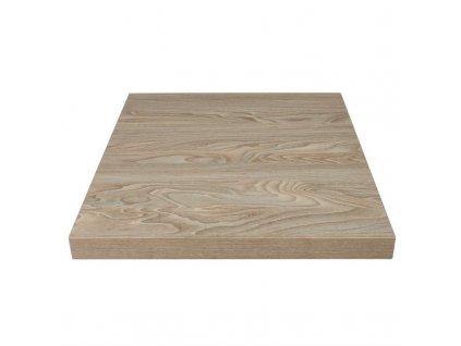 Bolero stolová deska čtvercová v dekoru starobylého dřeva s přírodní povrchovou úpravou 700mm