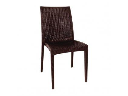 Bolero bistro stoličky z PP ratanu (sada 4ks)