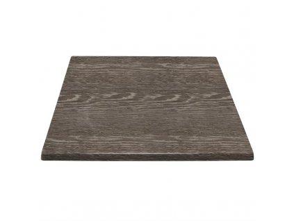 Bolero stolová deska čtvercová v dekoru vláken wenge 700mm