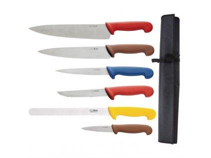 Hygiplas sada barevně rozlišených šéfkuchařských nožů s pouzdrem