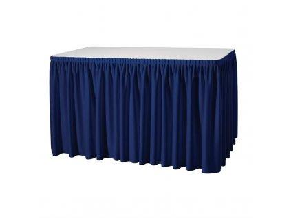 Tmavě modrá stolní sukně – plisovaný styl