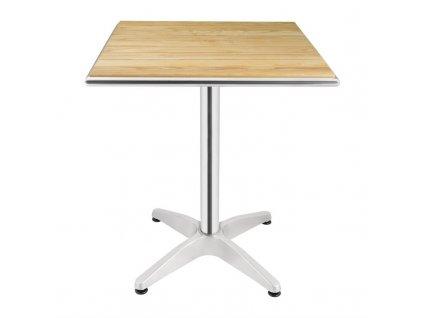 Bolero štvorcový stôl 600mm s doskou z jaseňového dreva
