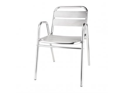 Bolero stohovatelné židle hliníkové s obloukovými područkami (sada 4ks)