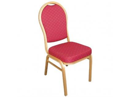 Bolero stolní židle s klenutým opěradlem hliníkové červené (sada 4ks)