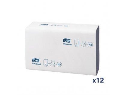 Tork ručníky složené do tvaru Z 1vrstvé 250 listů (12 balení v krabici)