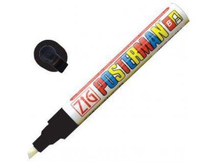 Zig Posterman křídový popisovač černý 6mm