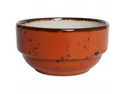 Miska z porcelánu, Ø 12 cm, oranžová FINE DINE, Kolory Ziemi Dahlia