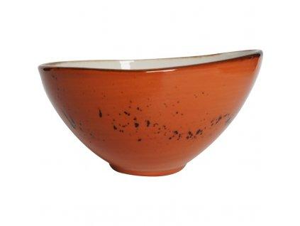 Miska z porcelánu, Ø 15 cm, oranžová FINE DINE, Kolory Ziemi Dahlia