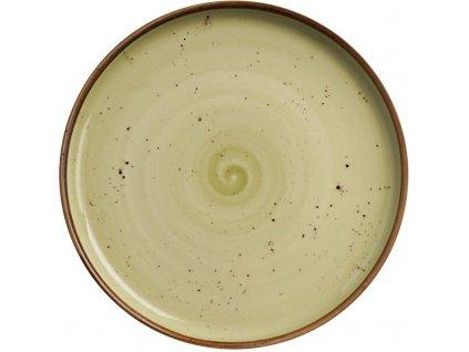 Tanier z porcelánu s vysokým okrajom, Ø 21 cm, olivový FINE DINE, Kolory Ziemi Olive