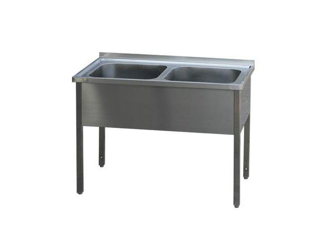 Stůl mycí dvoudřez 210 x 70