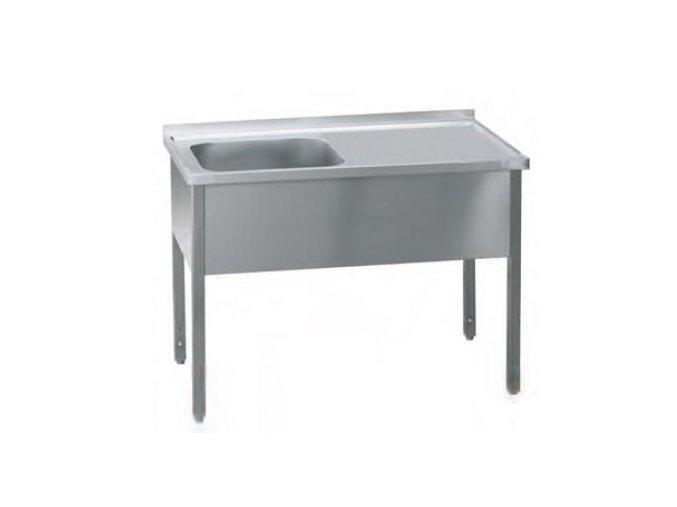Stůl pracovní jednodřez  120x70