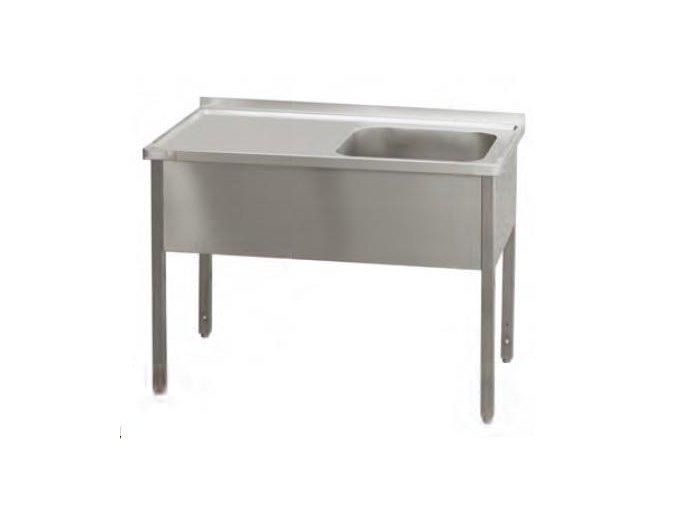 Stůl pracovní s dřezem   160x60