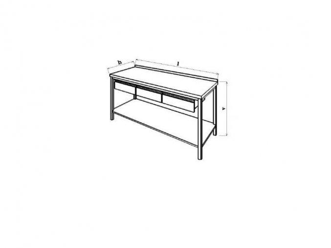 Pracovní stůl se zásuvkami 190x70x85