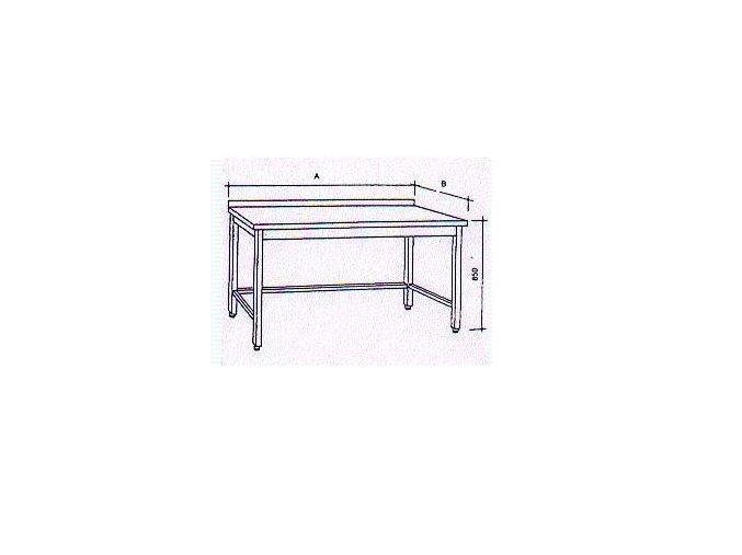 Pracovní stůl bez police  90x70x85cm