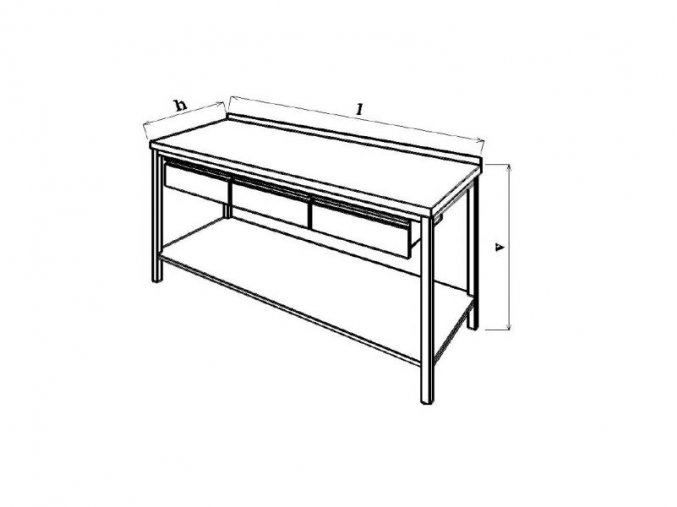 Pracovní stůl se zásuvkou 60x70x85