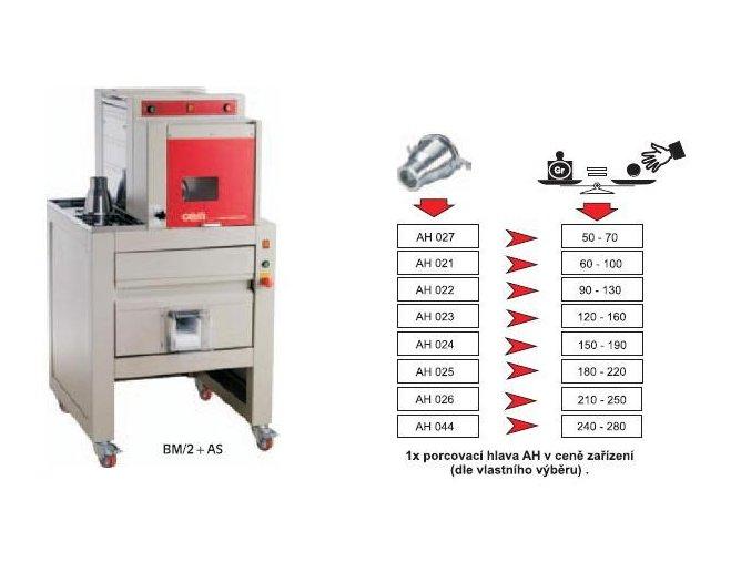 Porcovací+vykulovací zařízení na těsto BM/2+AS