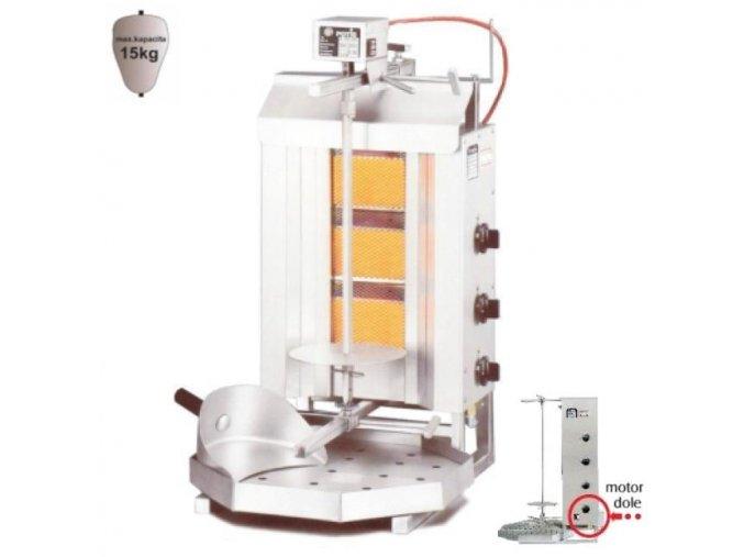 Gyros gril plynový G1/MU  POTIS 15 kg