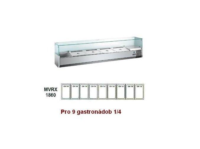 Chladící pultová vitrína MVRX 1860-1/4