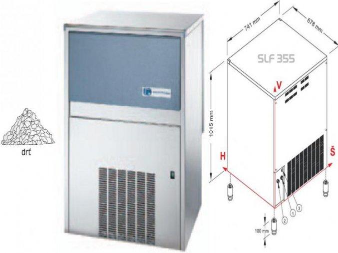 Výrobník ledové drtě SLF 355 W