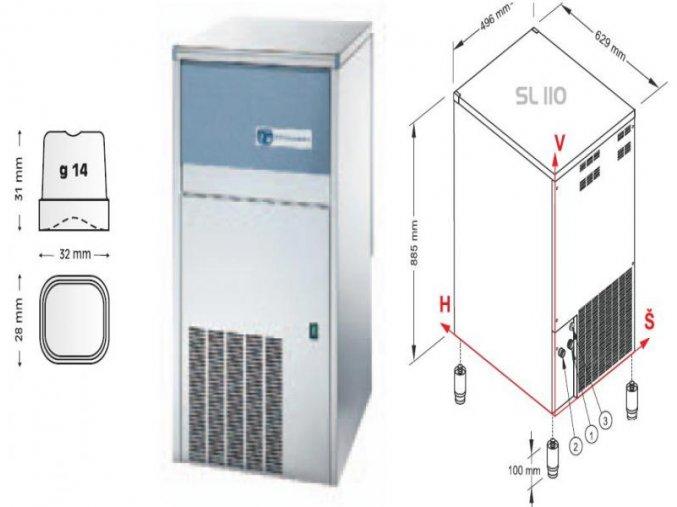 Výrobník ledu SL 110 A