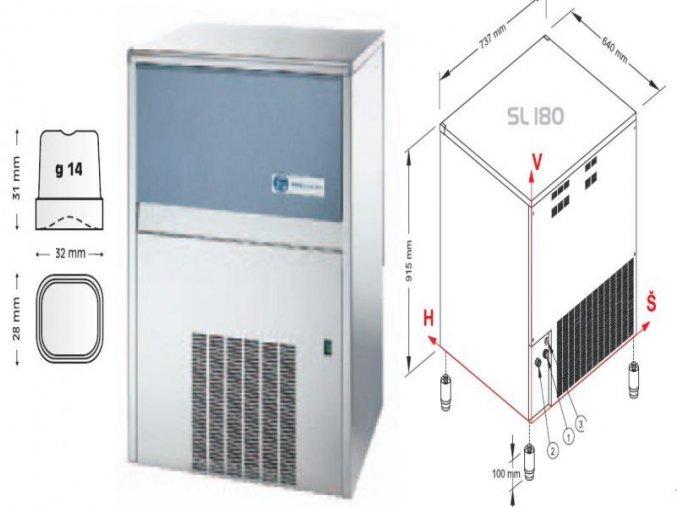 Výrobník ledu SL 180 W