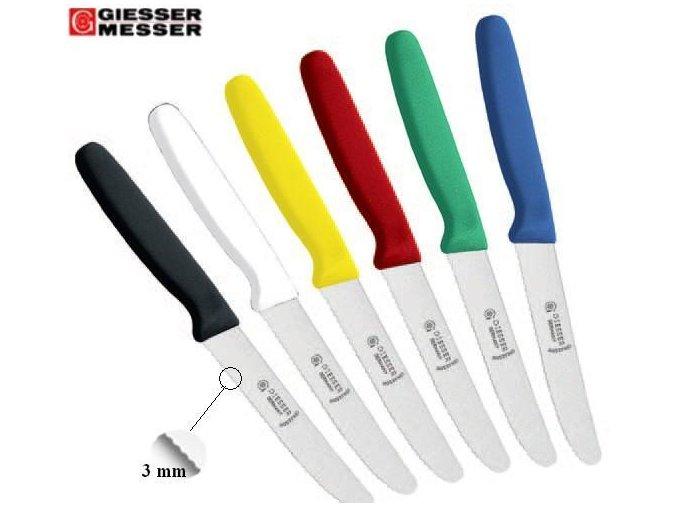 Profesionální univerzální nůž GIESSER MESSER - zvlněné ostří 11 cm