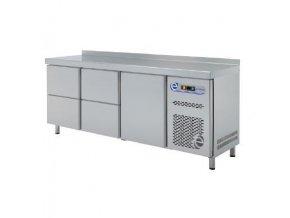 Chladící stůl  GN  - 1 x dveře + 4x zásuvka 1/2; TP7-180-14