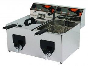 Elektrická fritéza FF 10 + 10 s výpustí