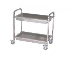 Servírovací vozík - jeklový 2V