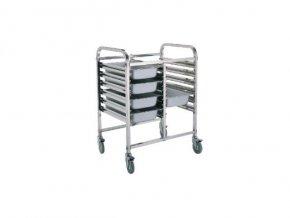 Regálový nerezový vozík RVJ-2x 6GN
