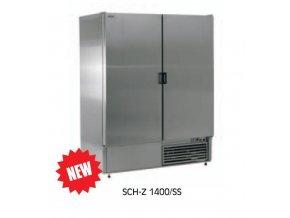 Chladící skříň-plné dveře SCH-Z-1400/SS