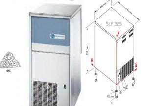Výrobník ledové drtě SLF 225 A