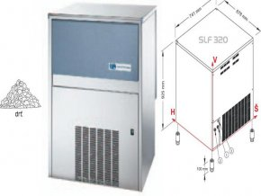 Výrobník ledové drtě SLF 320 A