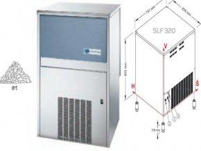 Výrobník ledové drtě SLF 320 W