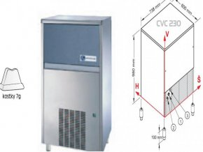 Výrobník ledu CVC 230 A