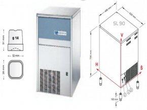 Výrobník ledu SL 90 W