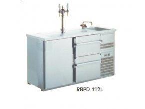 Chladící výčepní stůl s dřezem RBPD-112L