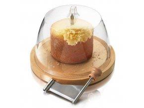 Strouhač sýrových hoblin s bukovou deskou a čirým krytem
