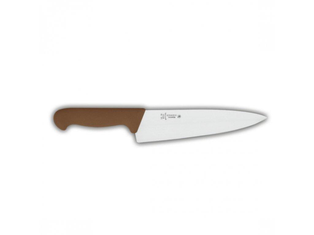 Nůž kuchařský 20 cm - hnědý