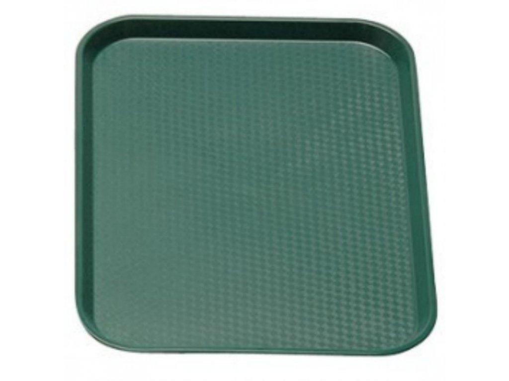 Podnos jídelní - zelený 360 x 460 mm