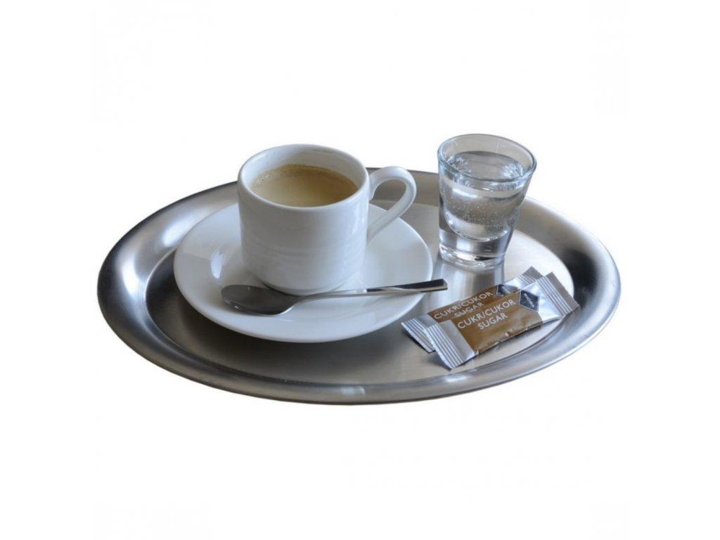 Tác na servírování kávy 26,5x20 cm matný