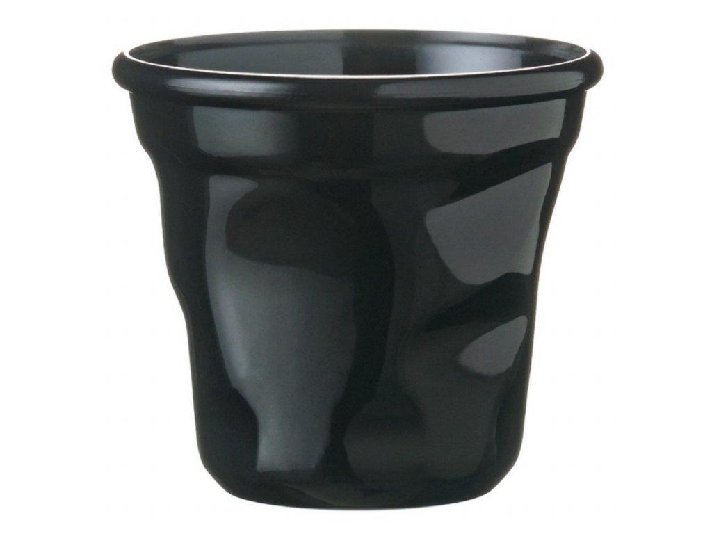 Pohárek mačkaný černý, balení 12ks