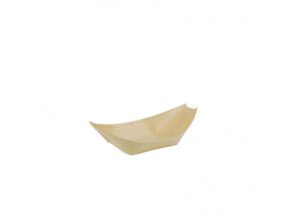 Miska lodička bambus L, balení 50ks