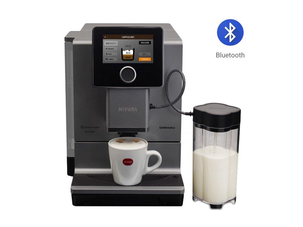 Automatický kávovar NIVONA NICR 970  + 1 kg zrnkové kávy Golden Brasil in Brown ZDARMA