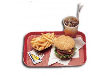 Podnos Fast Food červený 300 x 410 mm