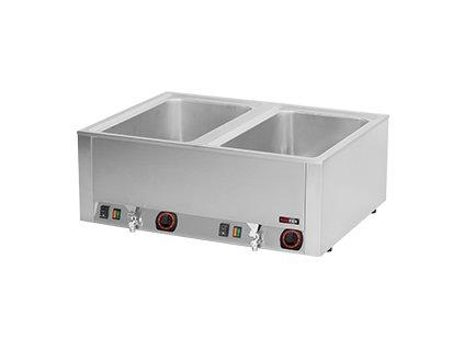 BMV 2120 - Vodní lázeň el. 2x GN 1/1 - 200 stolní s výpustí