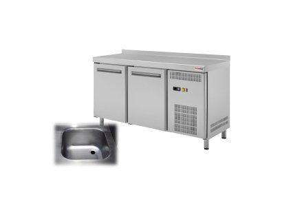 RT 2D S HC - Stůl chladicí el. GN 1/1 dřez 2 dveře 230 V