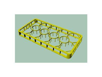 C 1413 - Nástavec plastový na sklenice 14 pozic 50x50x4