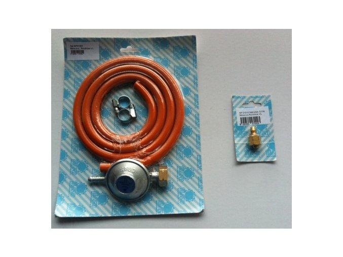 Sada hadice, regulátoru a nátrubku pro připojení grilu