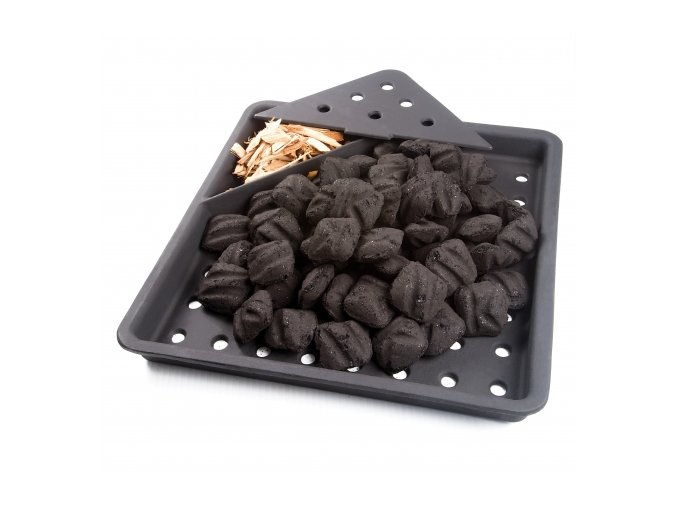 Vložka na dřevěné uhlí do plynových grilů